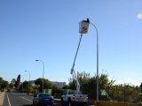 La sustitución de luminarias en Valsequillo permitirá un ahorro de nueve mil euros al año