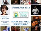 ONCE VERSEADORES SE CITAN EN LA NOCHE DEL VERSO IMPROVISADO DE SAN MIGUEL EN VALSEQUILLO