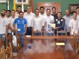 El AYUNTAMIENTO DE VALSEQUILLO RECIBE AL CLUB DE BALONCESTO ROQUE GRANDE