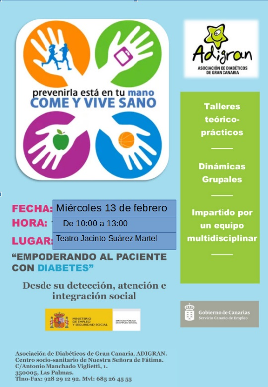 Cartel Jornada Diabetes-02-2019