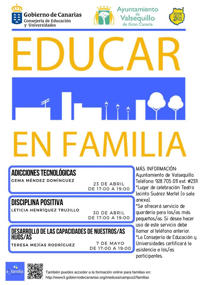 Cartel Educar en Familia