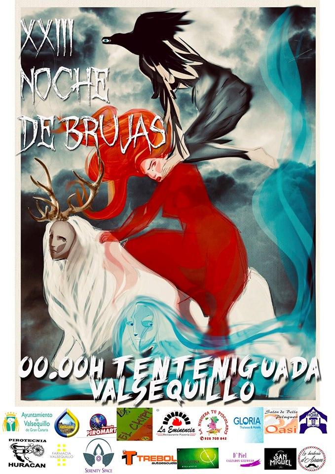 Cartel Noche de Brujas 2019