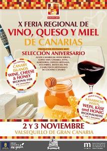 Cartel Feria Regional del Vino, Queso y Miel