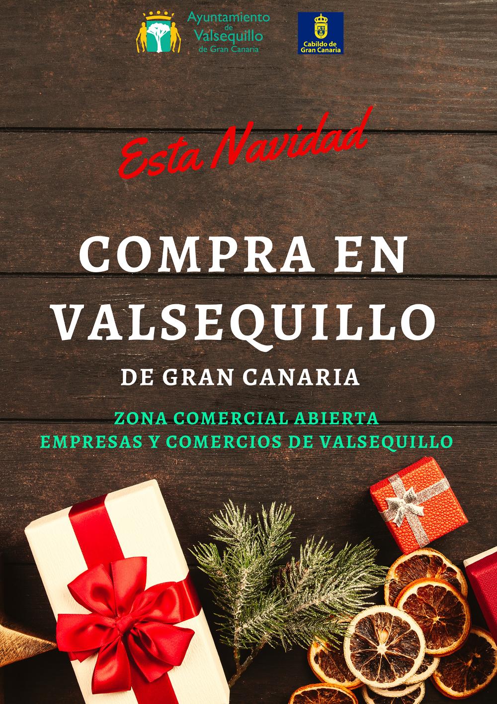 Cartel campaña comprar en Valsequillo Navidad 2019