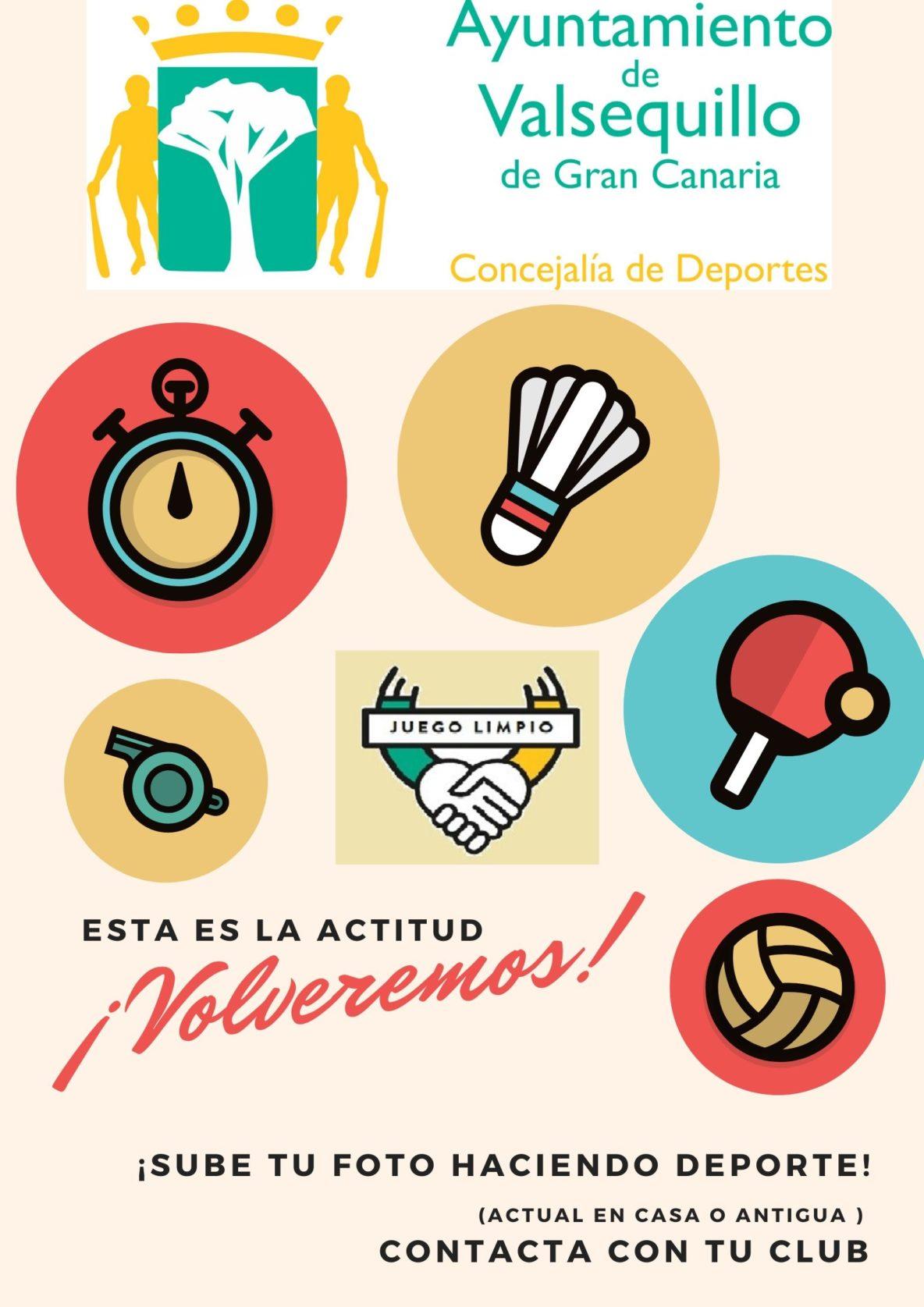 cartel compartir fotos deportivas