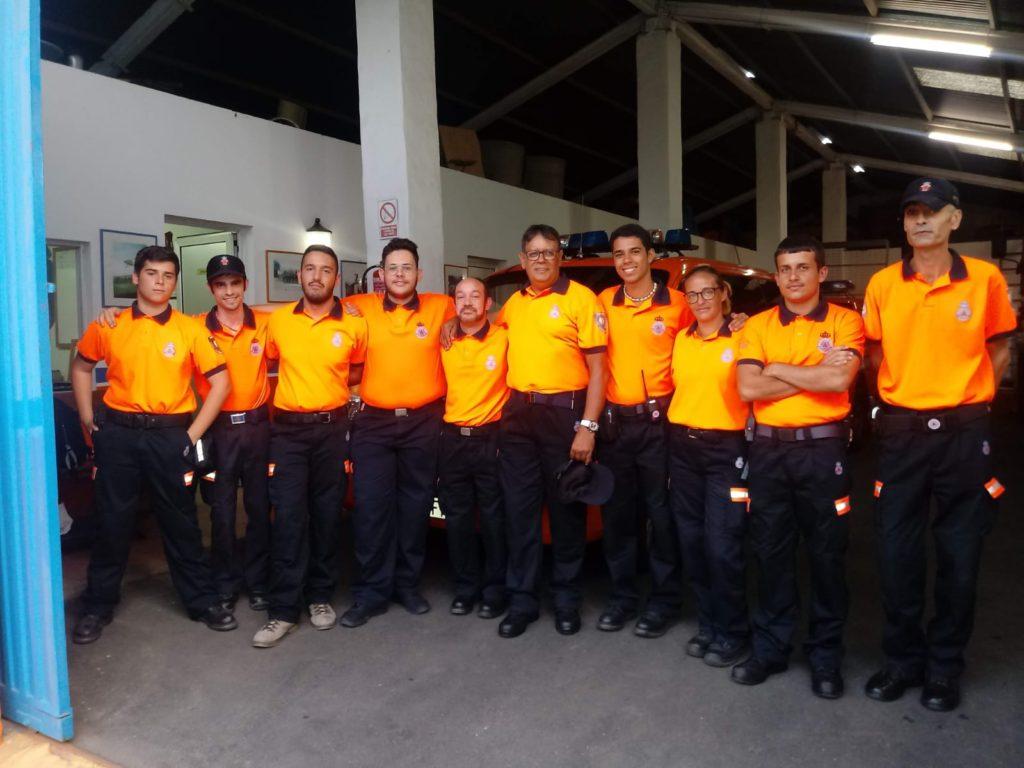foto de archivo cuerpo de voluntarios de Protección Civil