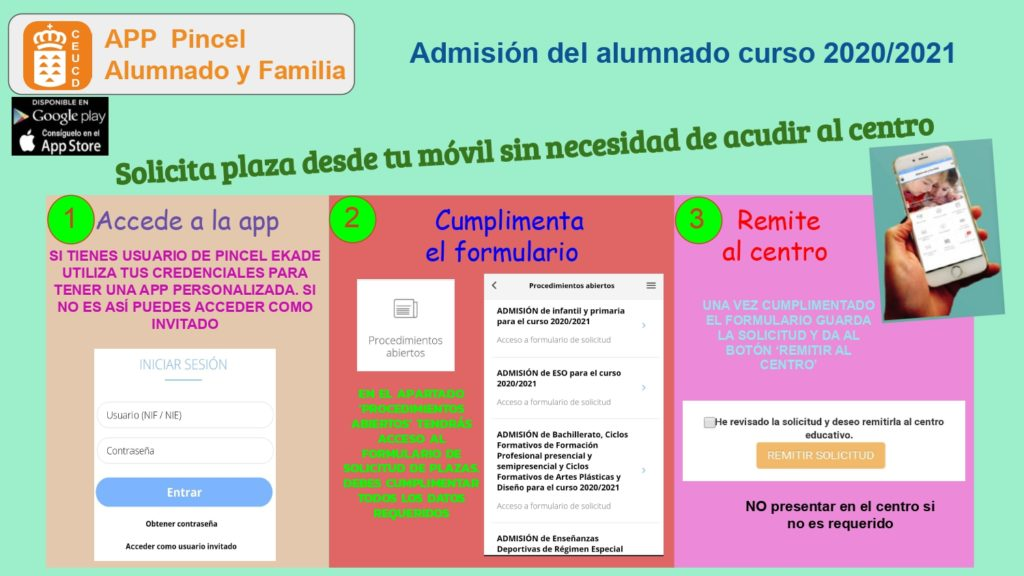 App admisión colegios