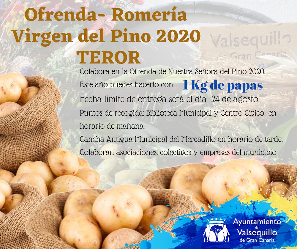 cartel papas Pino 2020