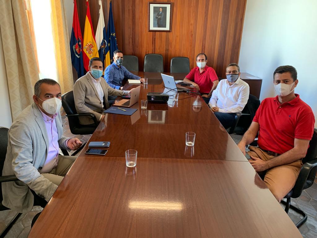 Reunión alcaldes de Telde y Valsequillo