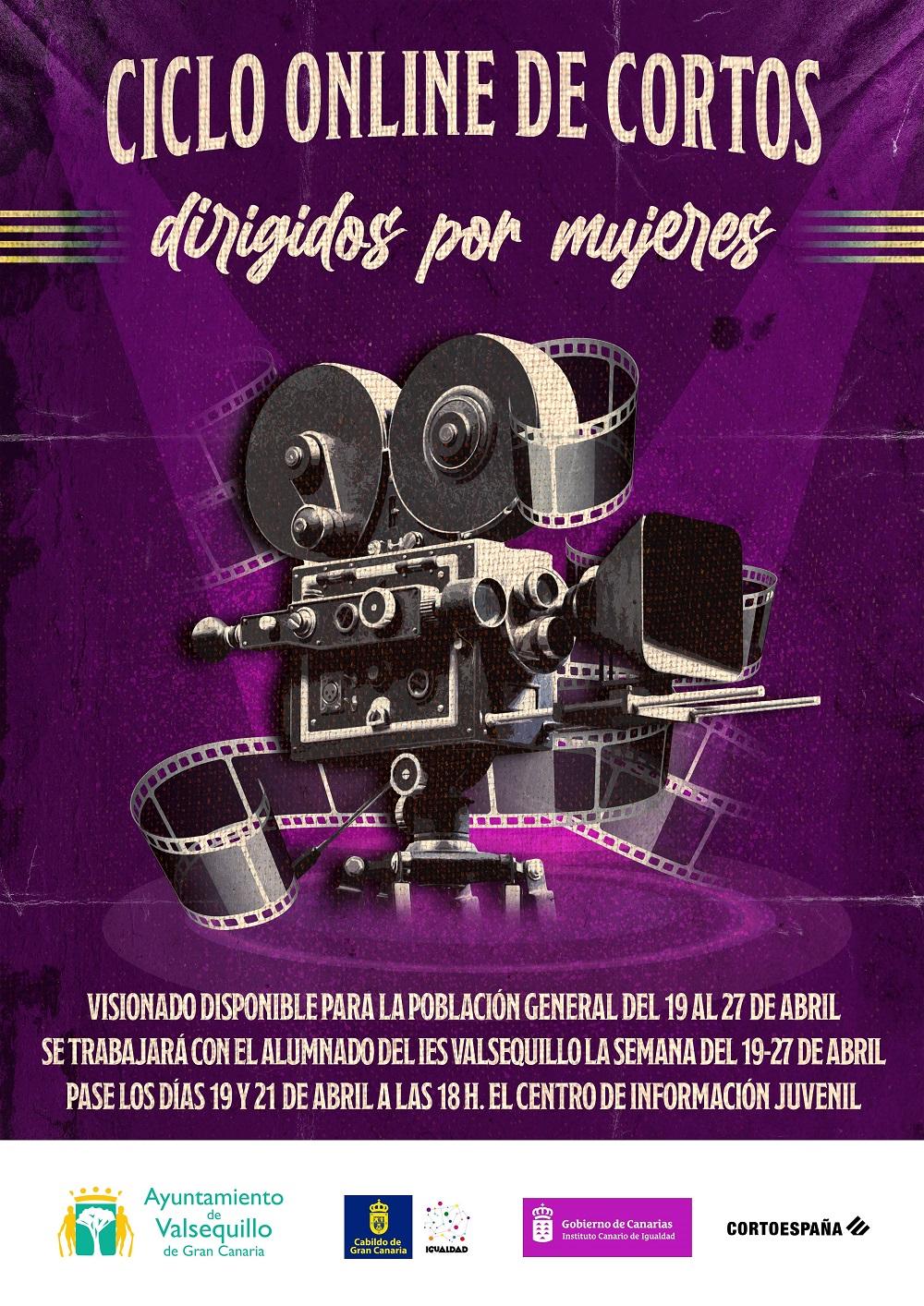 """Featured image for """"El Ayuntamiento de Valsequillo de Gran Canaria organiza un ciclo online de cortometrajes dirigidos por mujeres"""""""