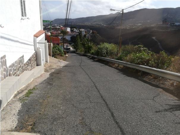 Perspectiva de la calle La Orilla