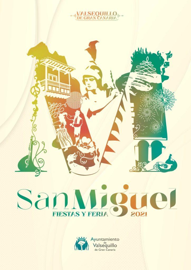 Cartel del programa de fiestas de San Miguel 2021